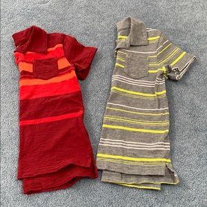 Cat & jack short sleeve polos with pockets. XS 4/5